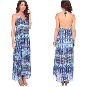 🍎Show Me Your Mumu Blue Erlyn Halter Maxi Dress